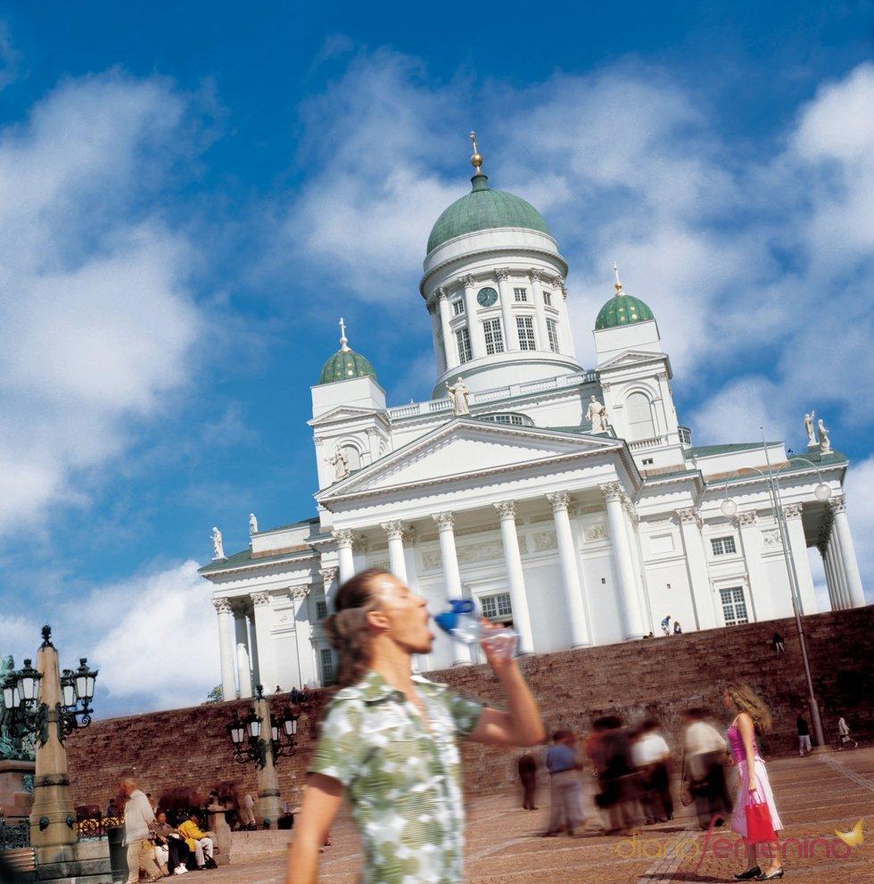 Plaza del senado y Catedral de Helsinki