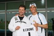 Russell Crowe conoce a Cristiano Ronaldo