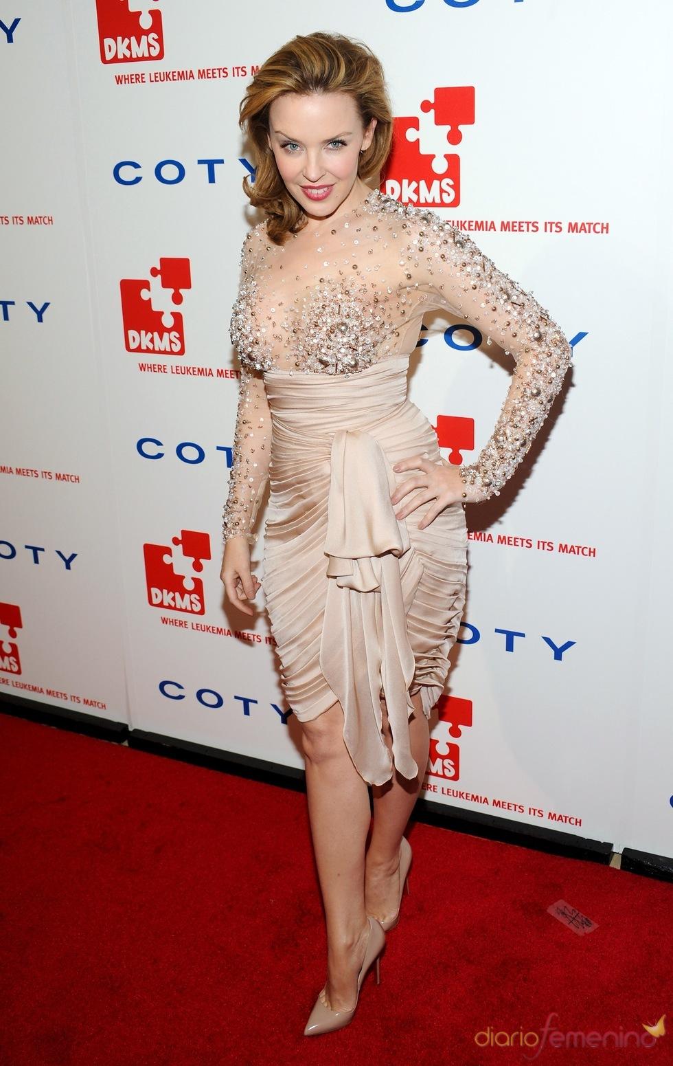 Kylie Minogue en la gala 'Unidos contra la Leucemia'