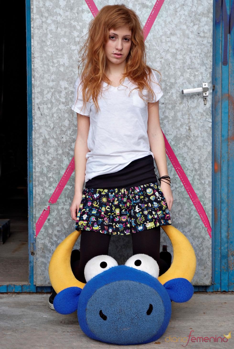 Minifalda con estampado de Kukuxumusu