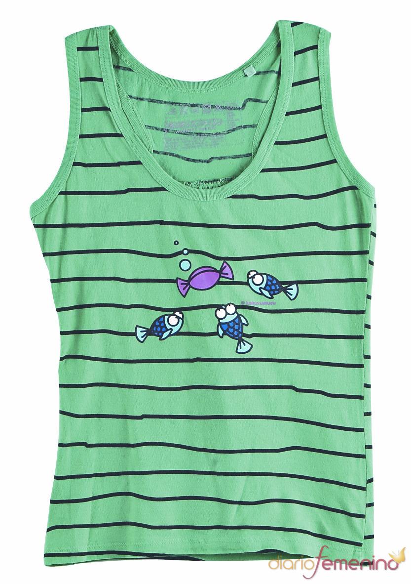 Camiseta de tirantes con peces Kukuxumusu
