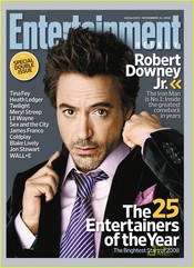 Robert Downey Jr. en la revista 'Entertainment'