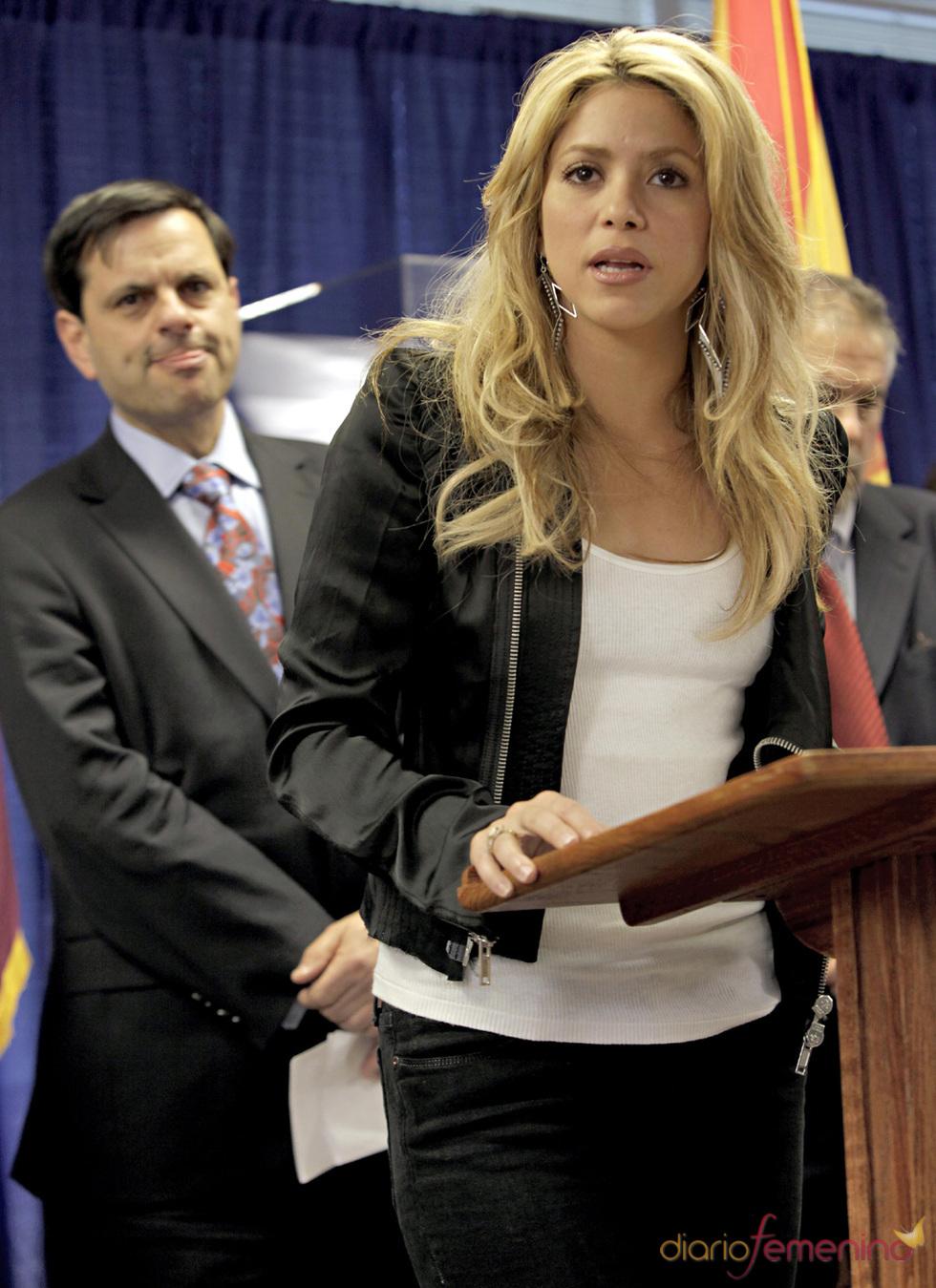 Shakira en Arizona contra la ley contra la inmigración