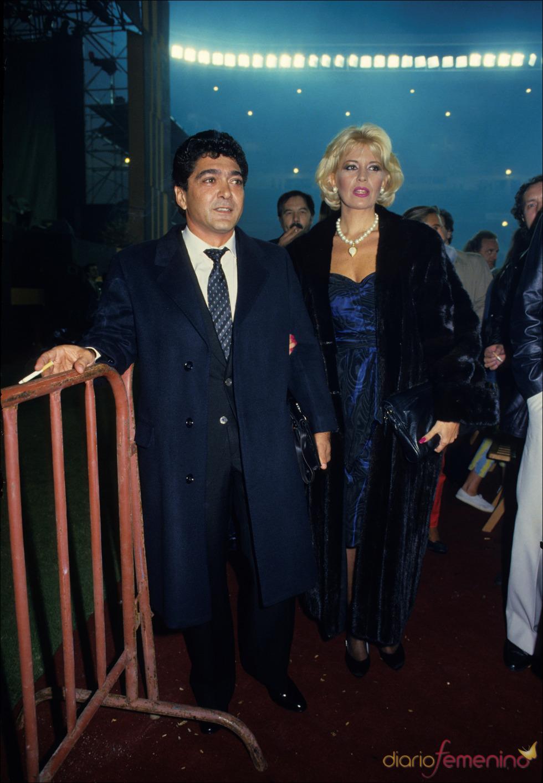 Ángel Cristo y su entonces esposa Bárbara Rey