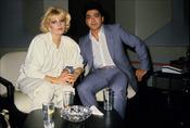Ángel Cristo con Bárbara Rey en los 80