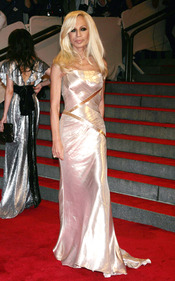 Donatella Versace en la gala del Costume Institute