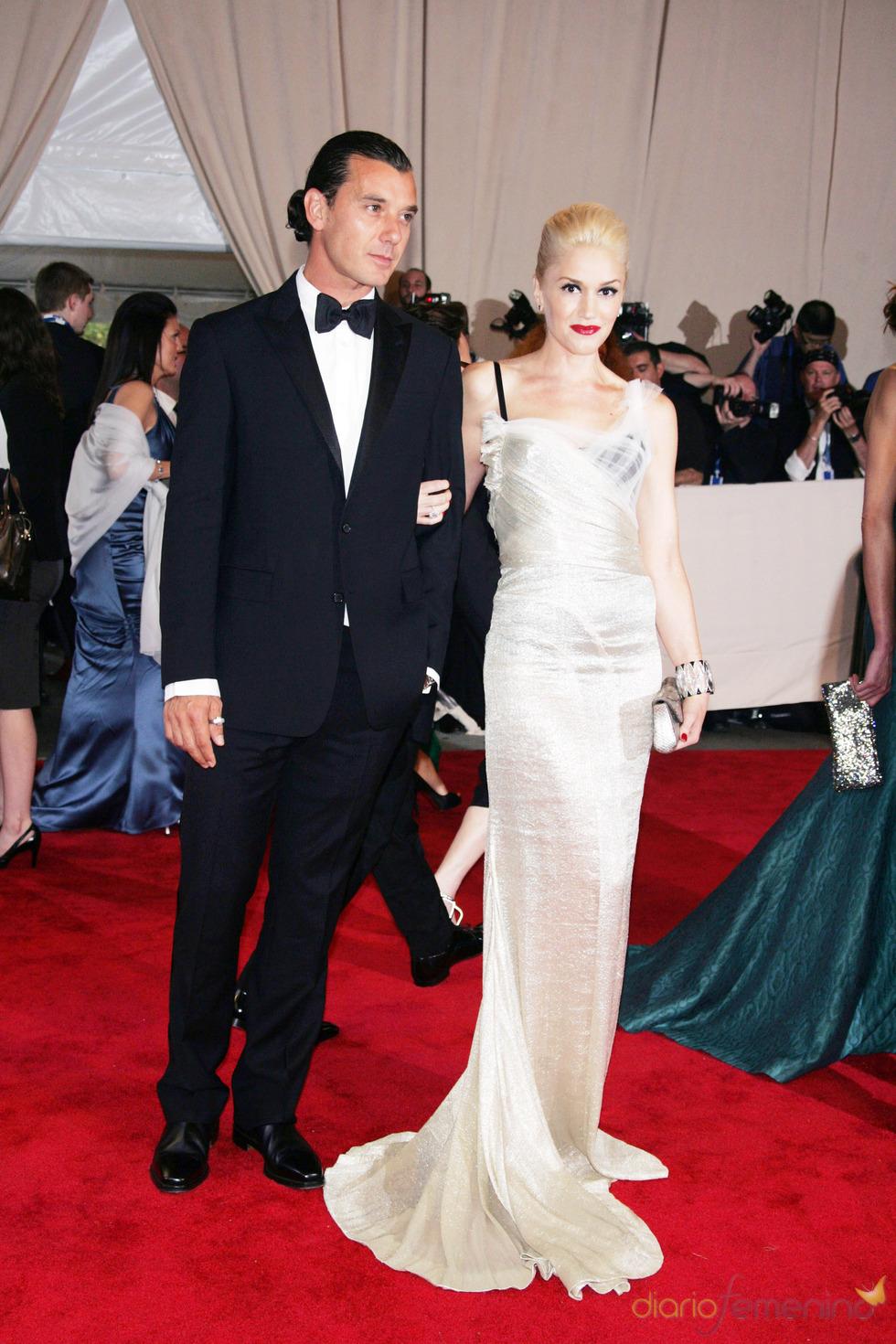 Gwen Stefani y Gavin Rossdale en la gala del Costume Institute