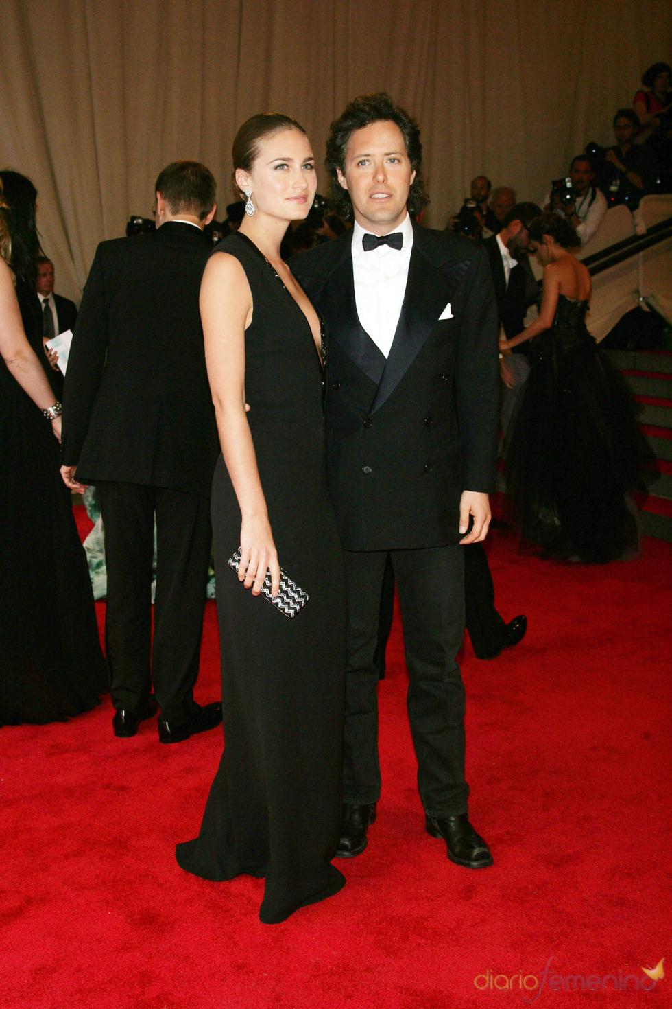 Lauren Bush y David Lauren en la gala del Costume Institute