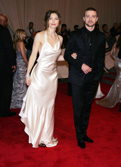 Jessica Biel y Justin Timberlake en la gala del Costume Institute