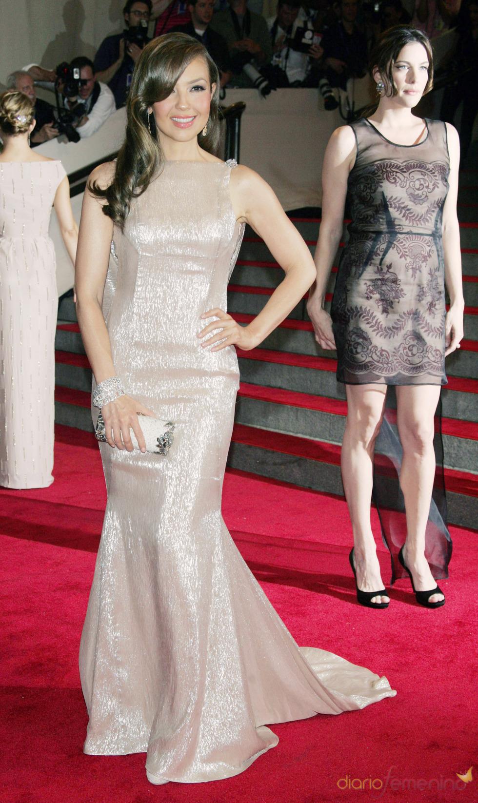 Thalía en la gala del Costume Institute