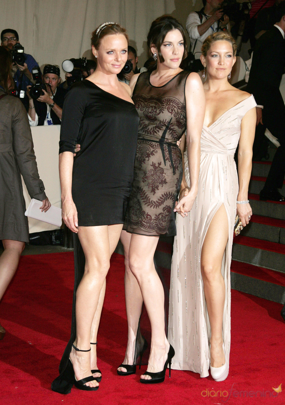 Stella McCartney, Liv Tyler y Kate Hudson en la gala de la moda