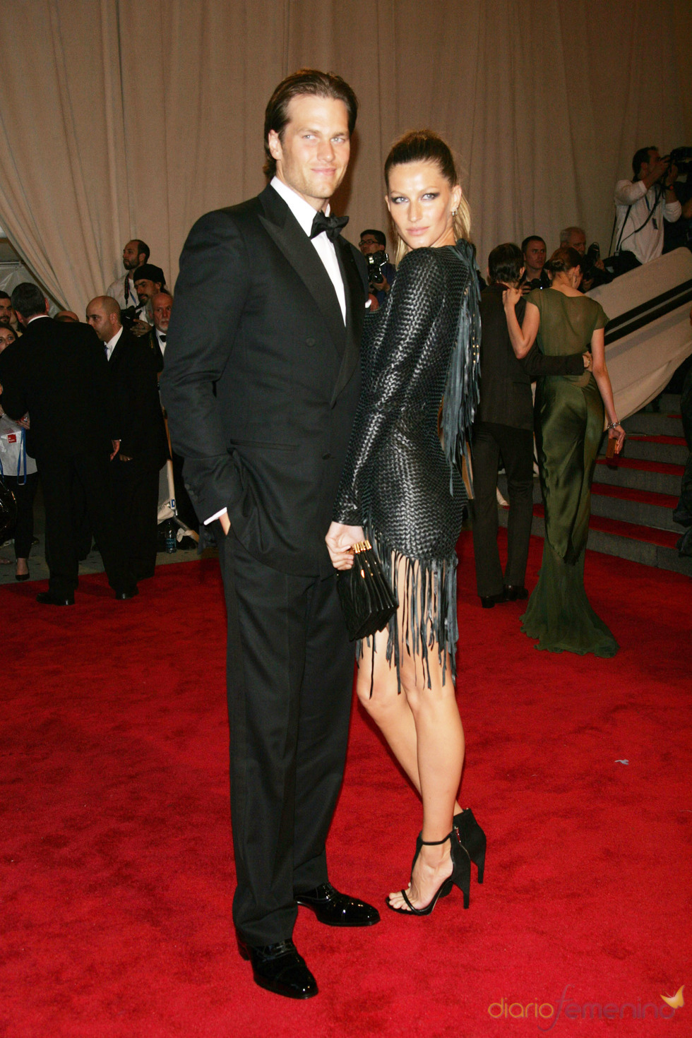 Gisele Bündchen y Tom Brady en la gala del Costume Institute