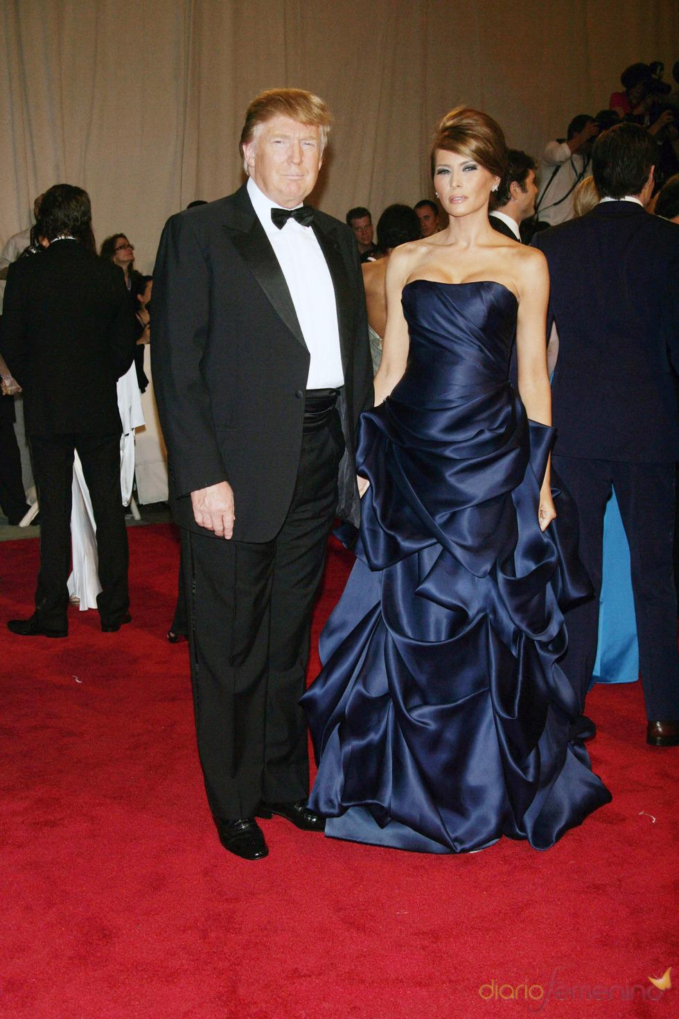 Donald y Melania Trump en la gala del Costume Institute