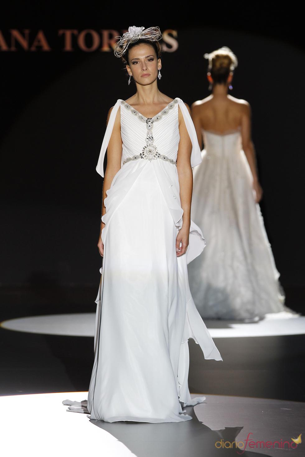 Vestido estilo romano de Ana Torres