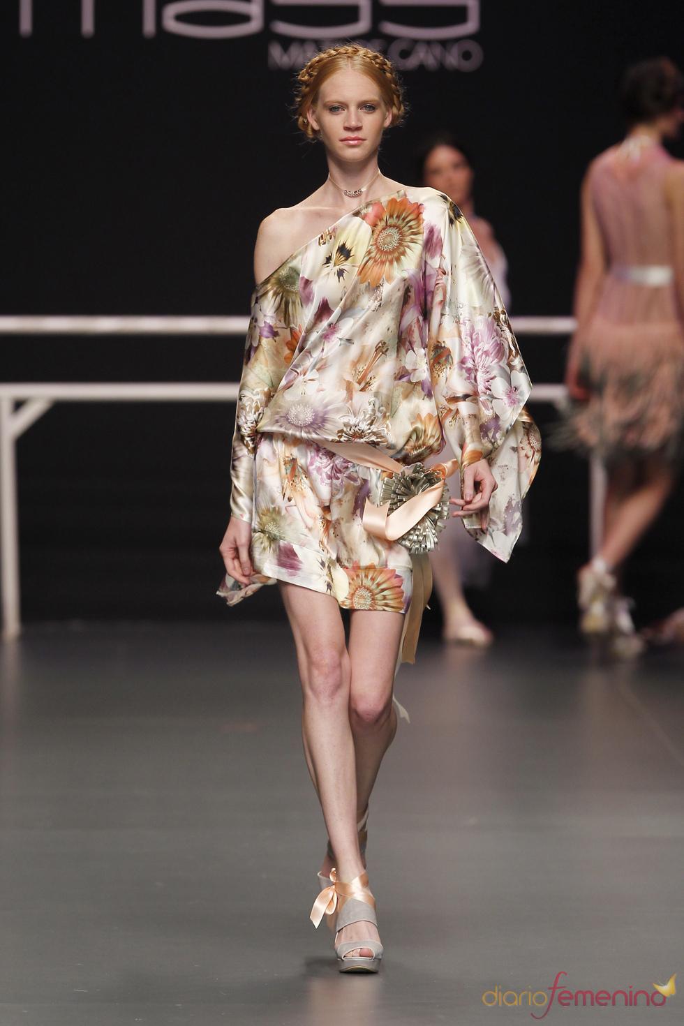 Vestido corn estampado de Matilde Cano