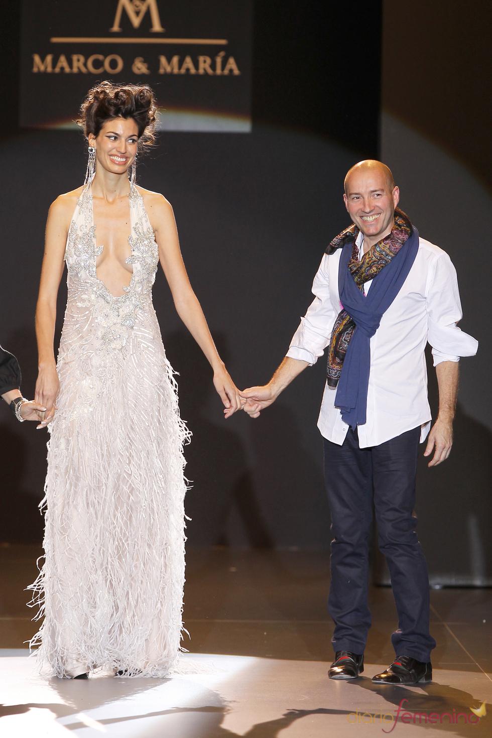Marcos Marrero, de M&M, en Cibeles Novias 2010