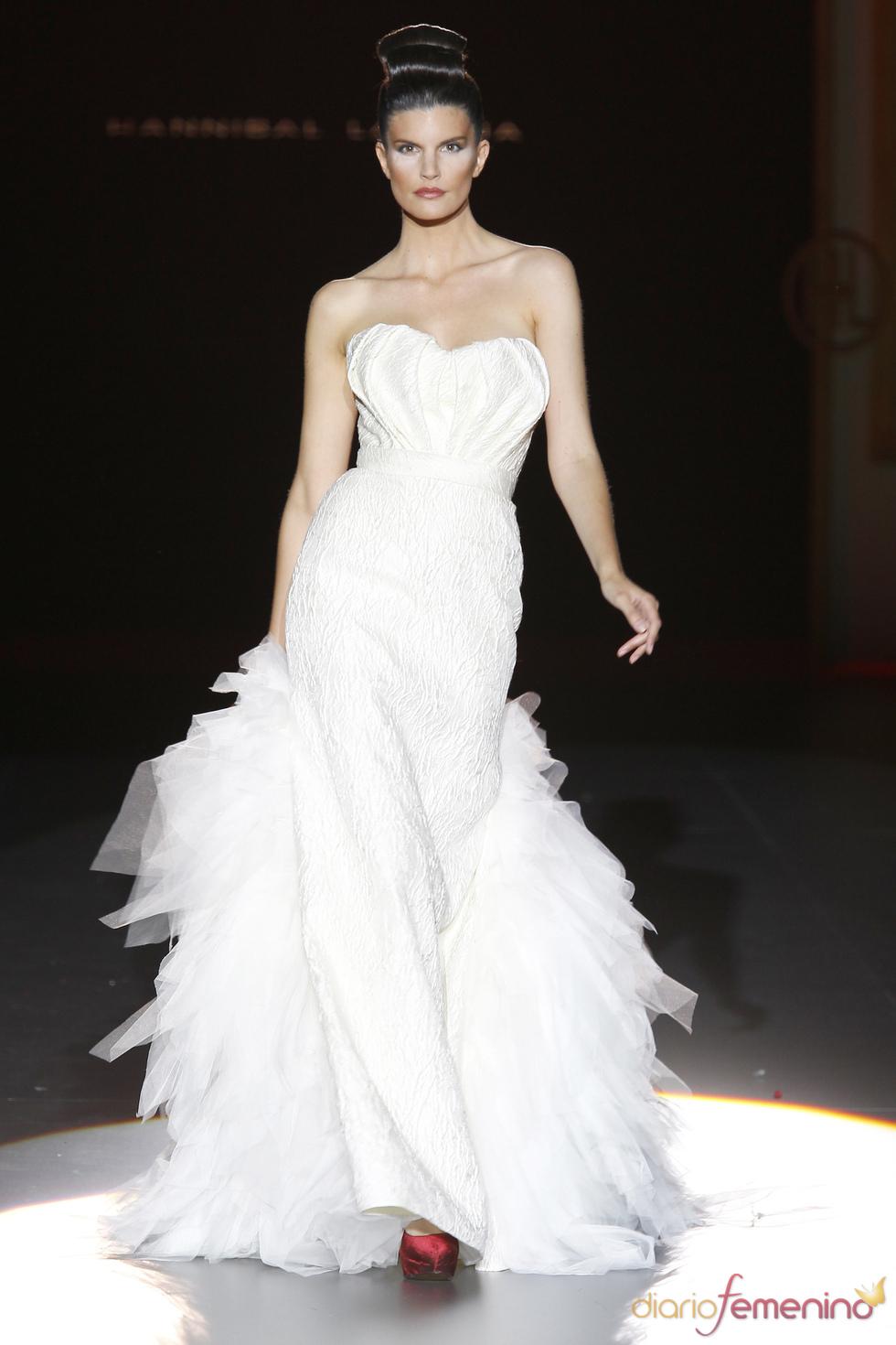 Vestido de novia con el sello de Hannibal Laguna