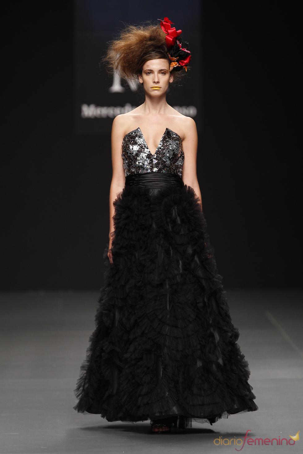 Vestido de fiesta negro de Zeduka