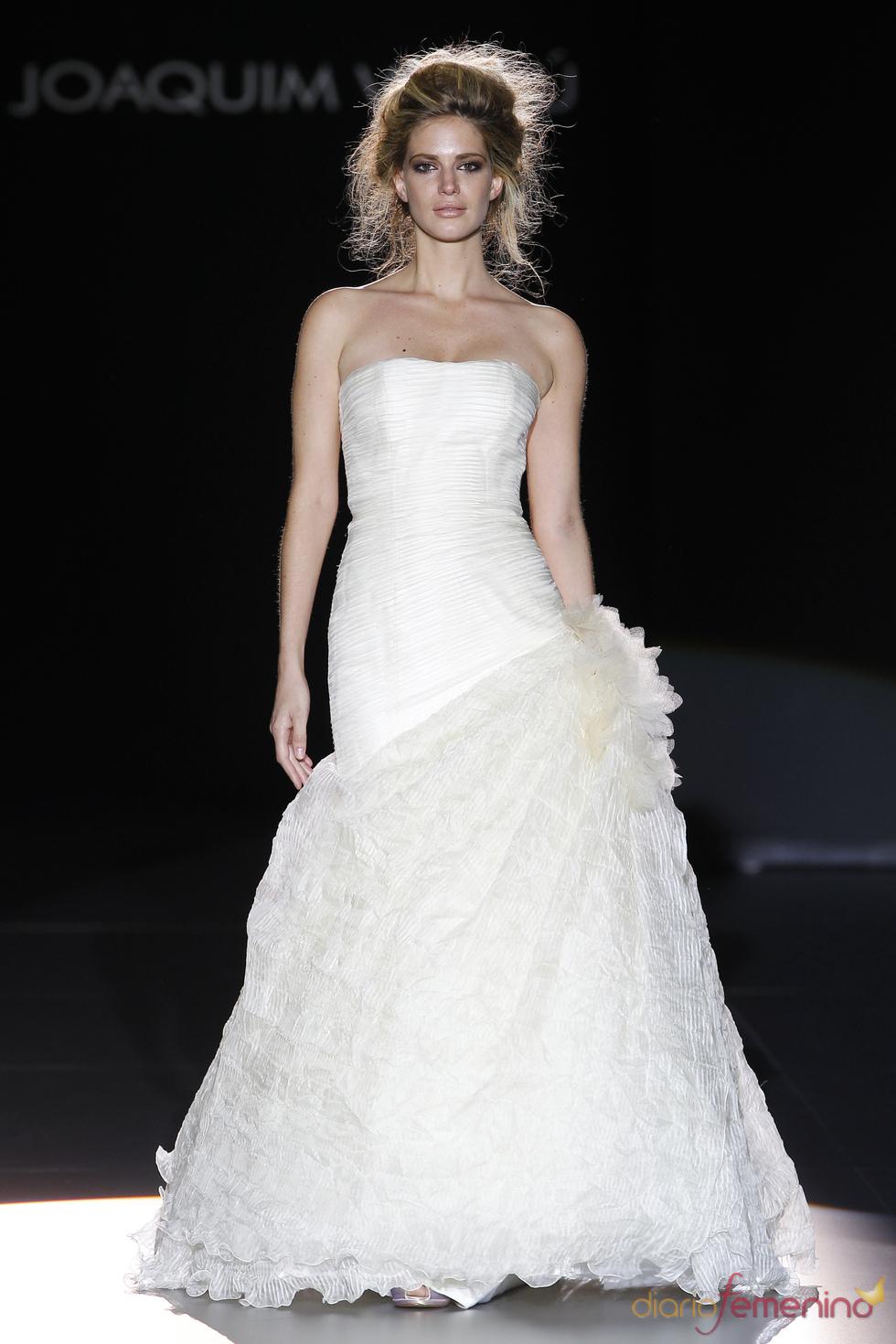Vestido de novia palabra de honor de Joaquim Verdú