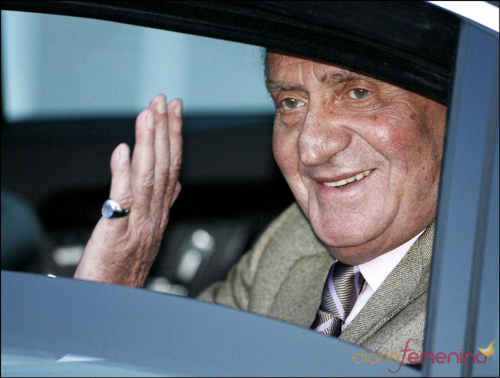 El Rey Juan Carlos I en la clínica Ruber
