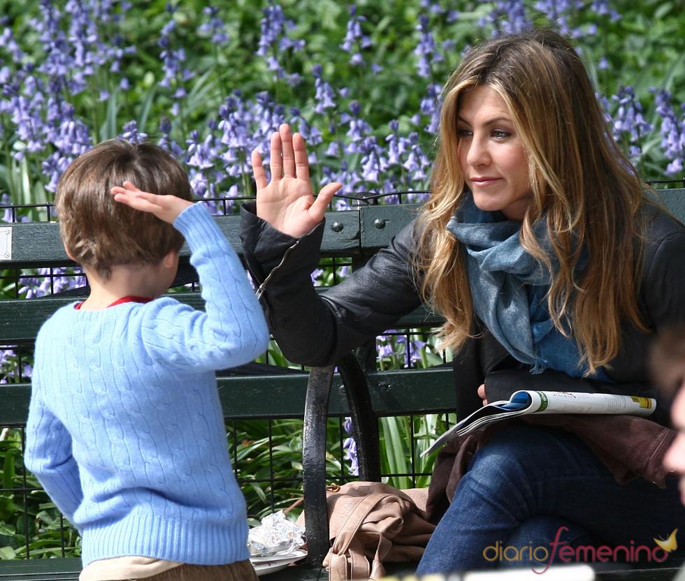 Jennifer Aniston en el rodaje de 'The Baster'