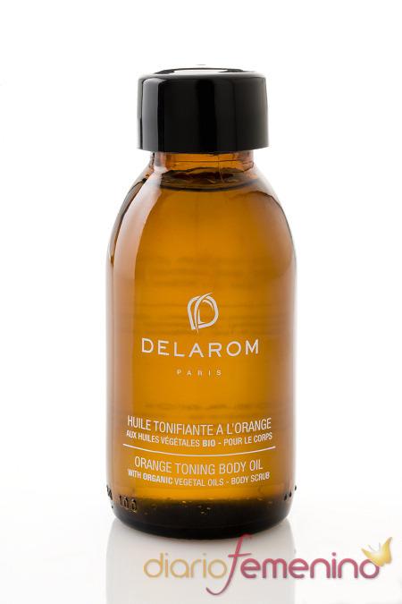 Aceite tonificante a la naranja de Delarom París
