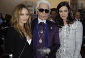 Karl Lagerfeld, Vanessa Paradis y Anna Mouglalis en Saint Tropez