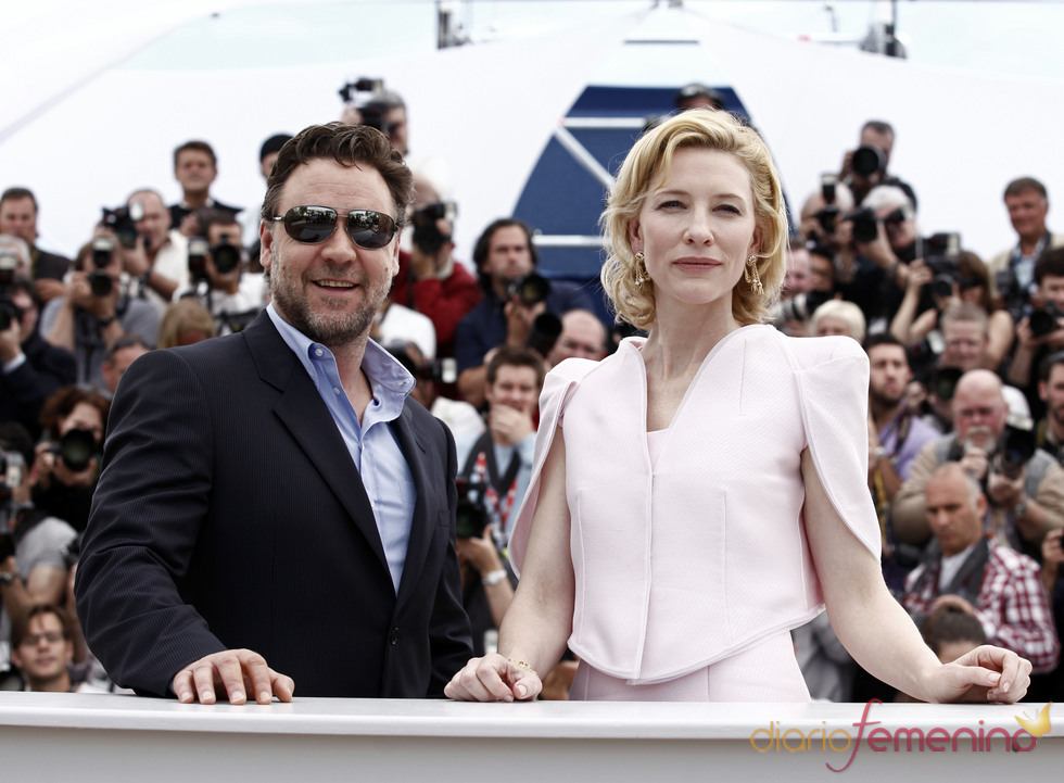 Russell Crowe y Cate Blanchett en Cannes
