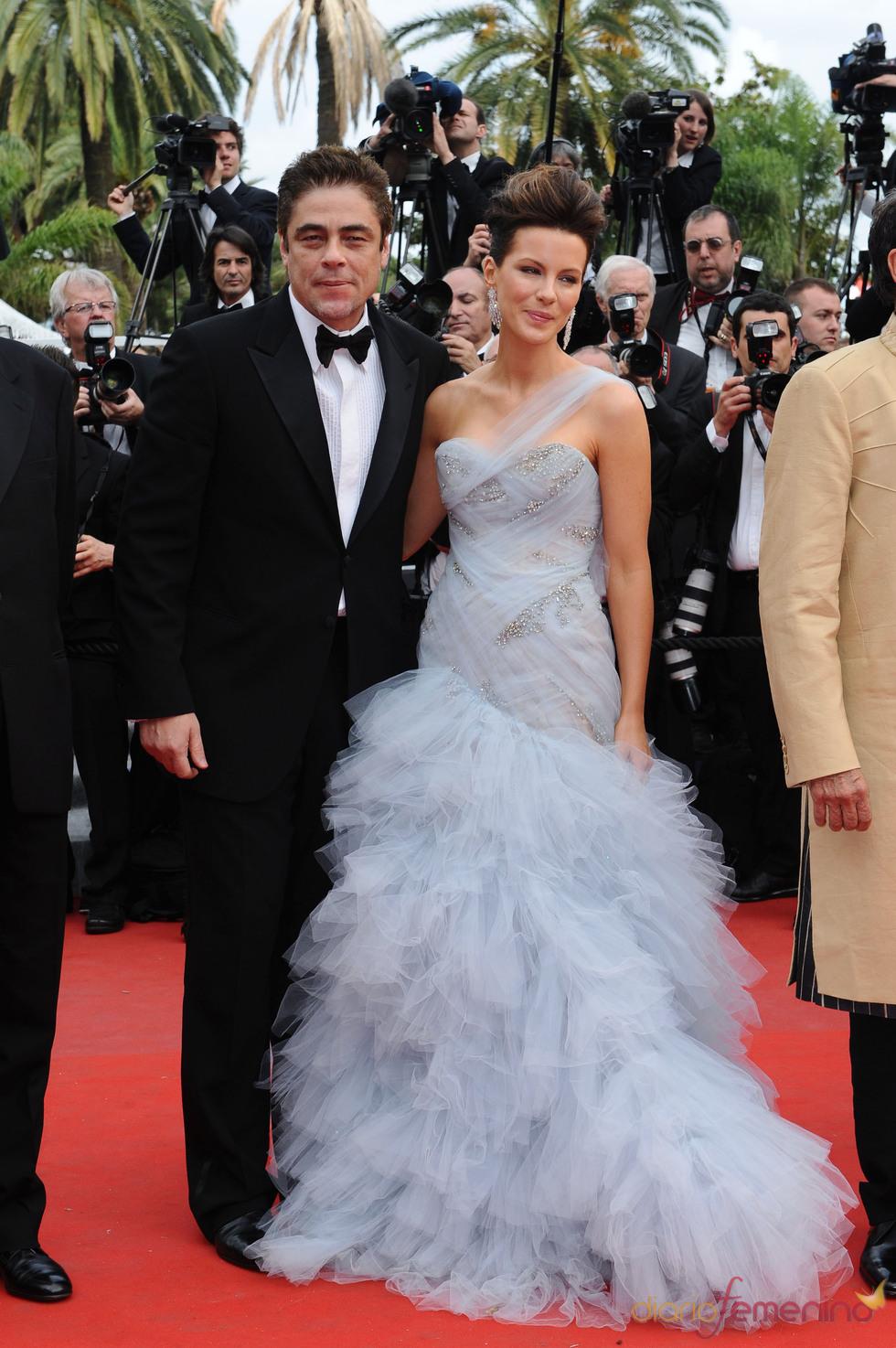 Benicio del Toro y Kate Beckinsale en Cannes