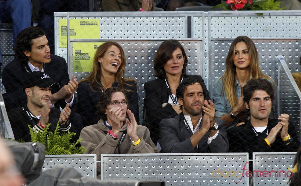 Reunión de famosos en el Madrid Open 2010