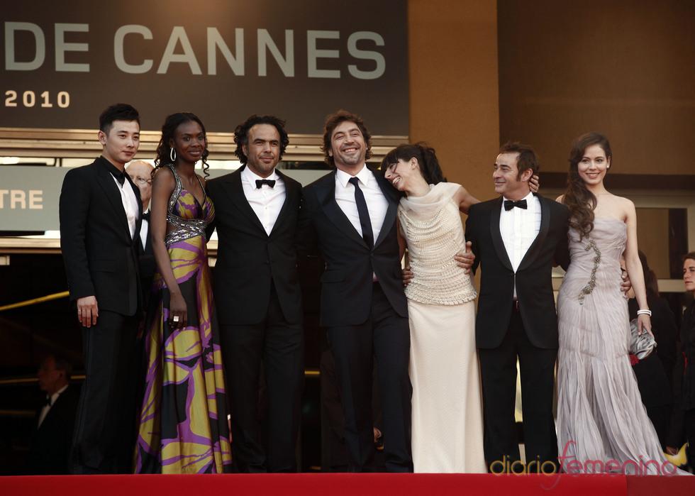 El equipo de 'Biutiful' en Cannes