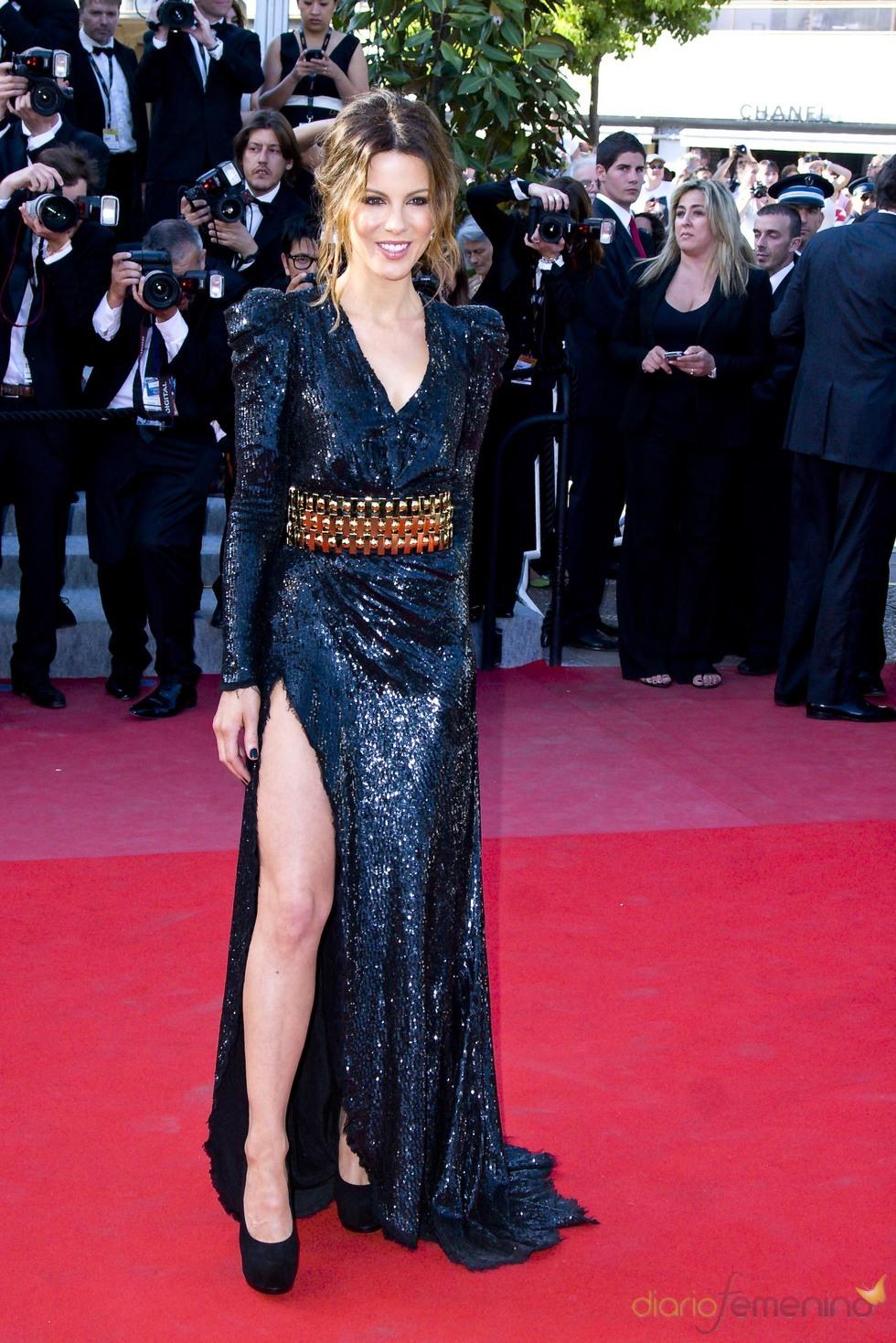Kate Beckinsale, con la pierna al descubierto en Cannes