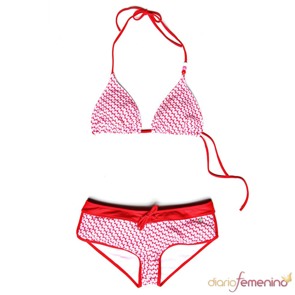 Bikini rosa y rojo de Protest