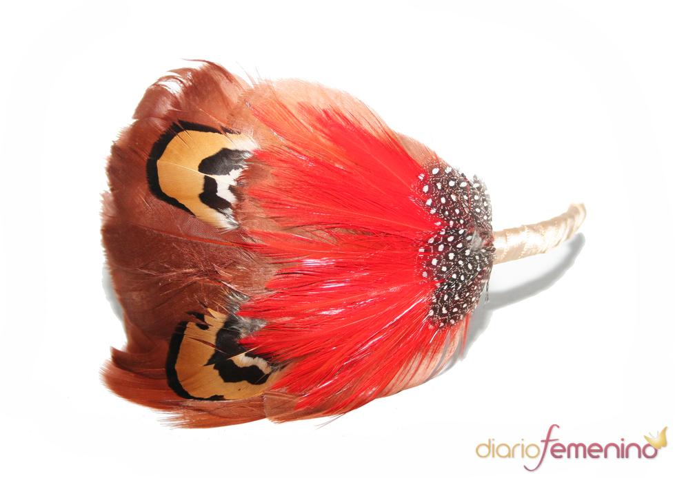 Diadema con plumas de Abataba
