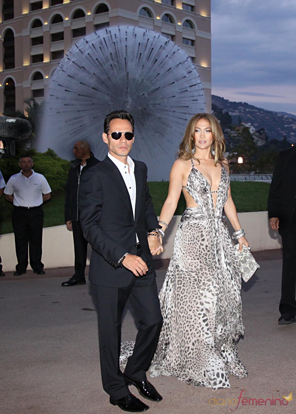 Jennifer Lopez y Marc Anthony en Montecarlo