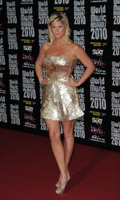 Rachel Hunter en los Premios de la Música de Montecarlo