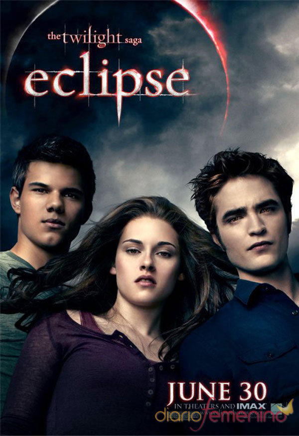 Poster de 'Eclipse' con Edward, Jacob y Bella