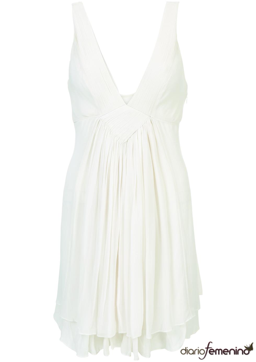 Vestido blanco de Topshop