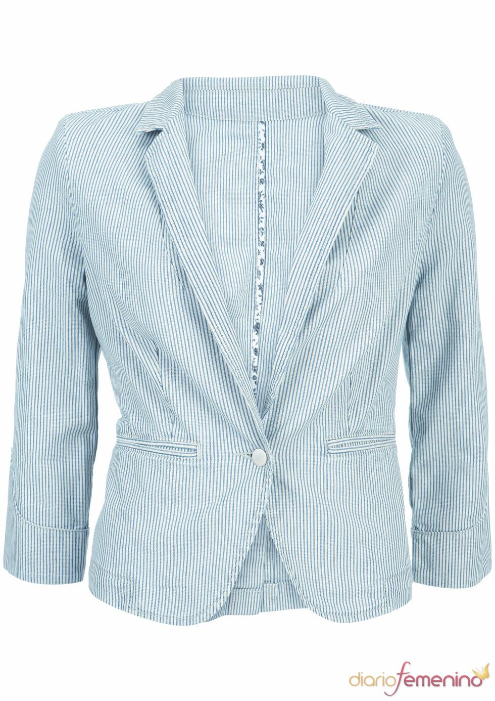 Blazer azul de Kate Moss