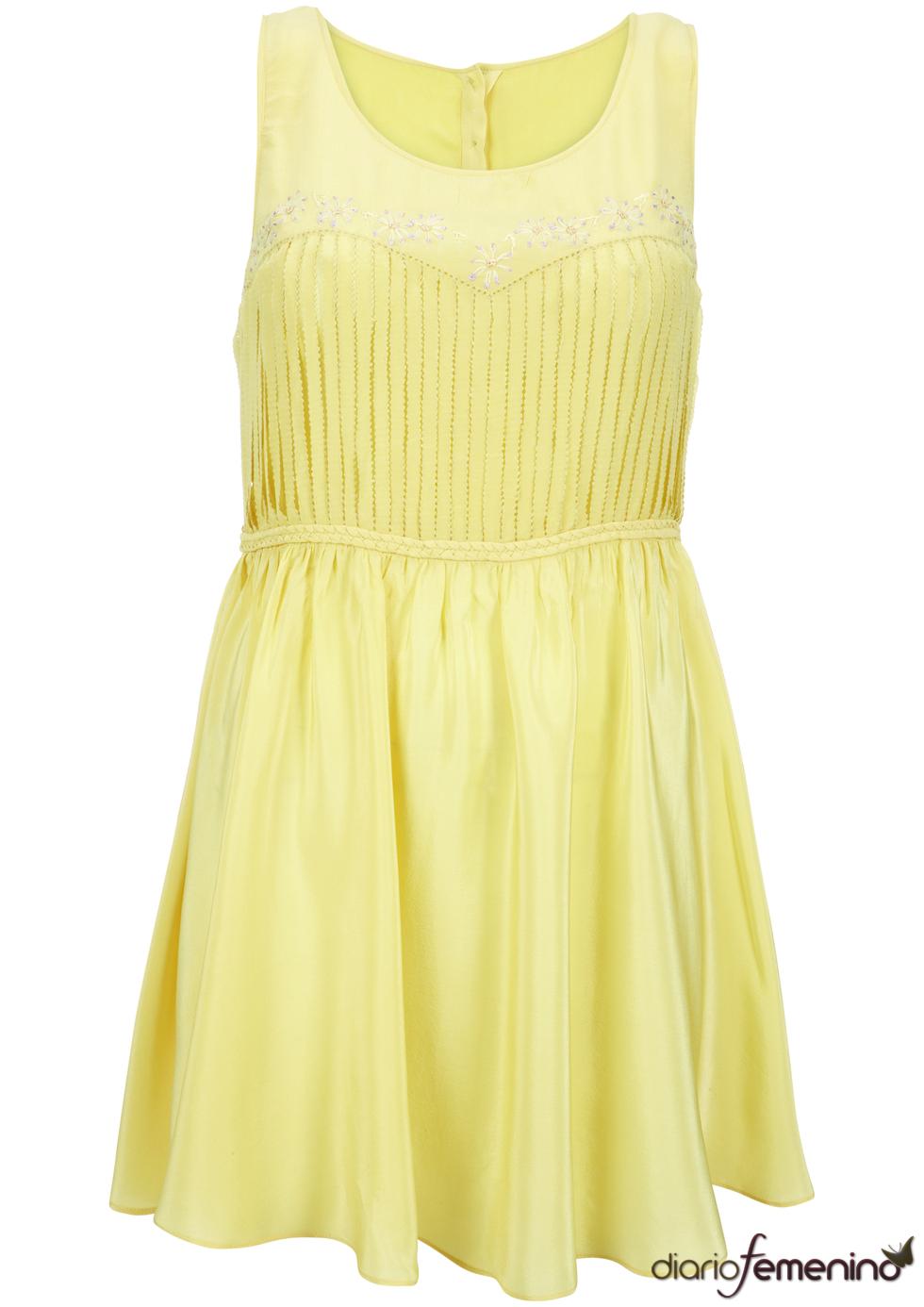 Vestido amarillo de Kate Moss