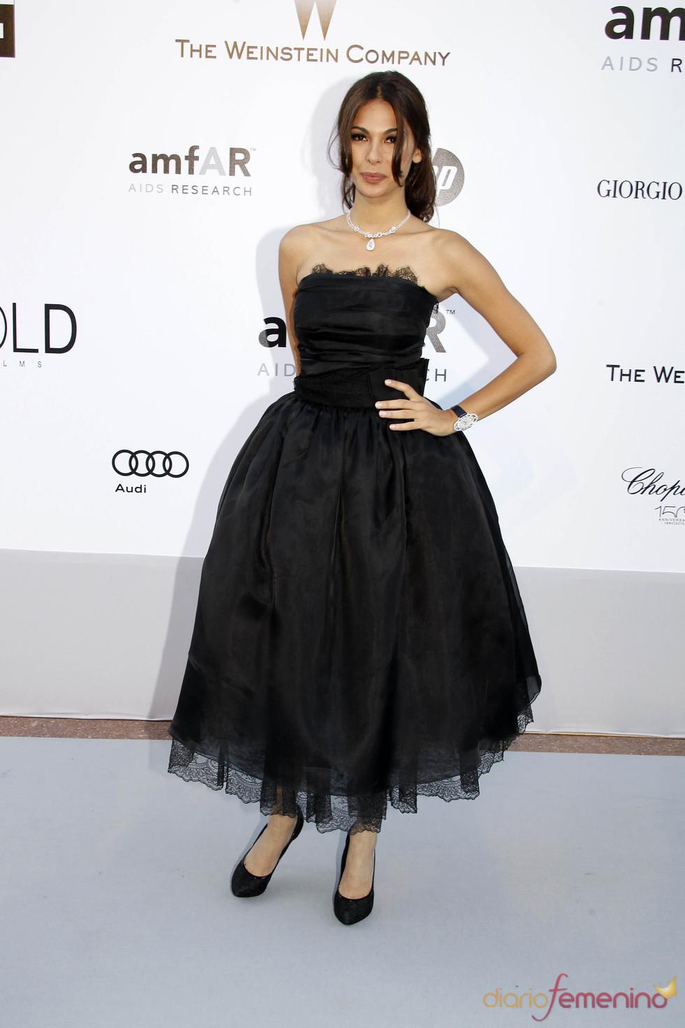 Eugenia Silva en la gala AMFAR