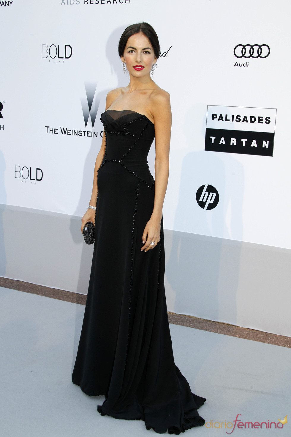 Camilla Belle en la gala AMFAR
