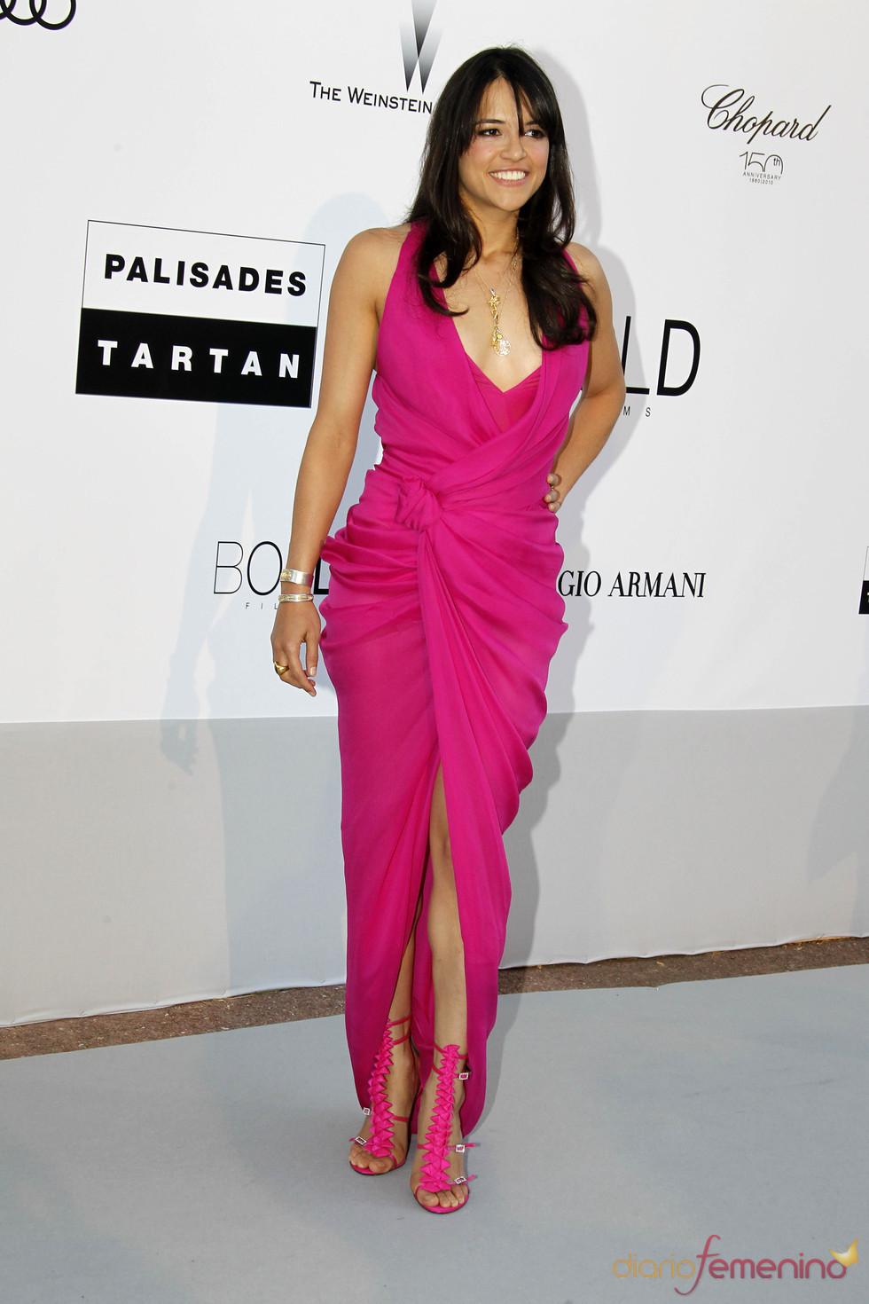 Michelle Rodriguez en la gala AMFAR 2010