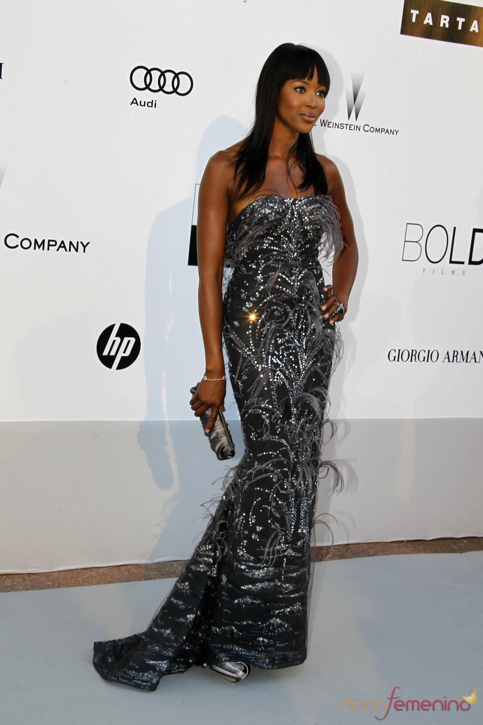 Naomi Campbell en la gala AMFAR 2010