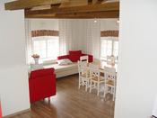 Interior de una cabaña en Finlandia