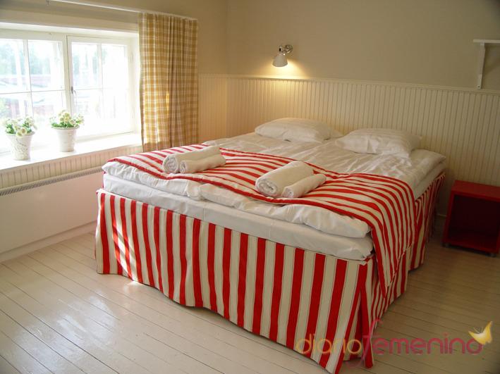Dormitorio de una cabaña finlandesa