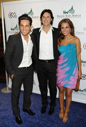 Poty con David Bustamante y Paula Echevarría