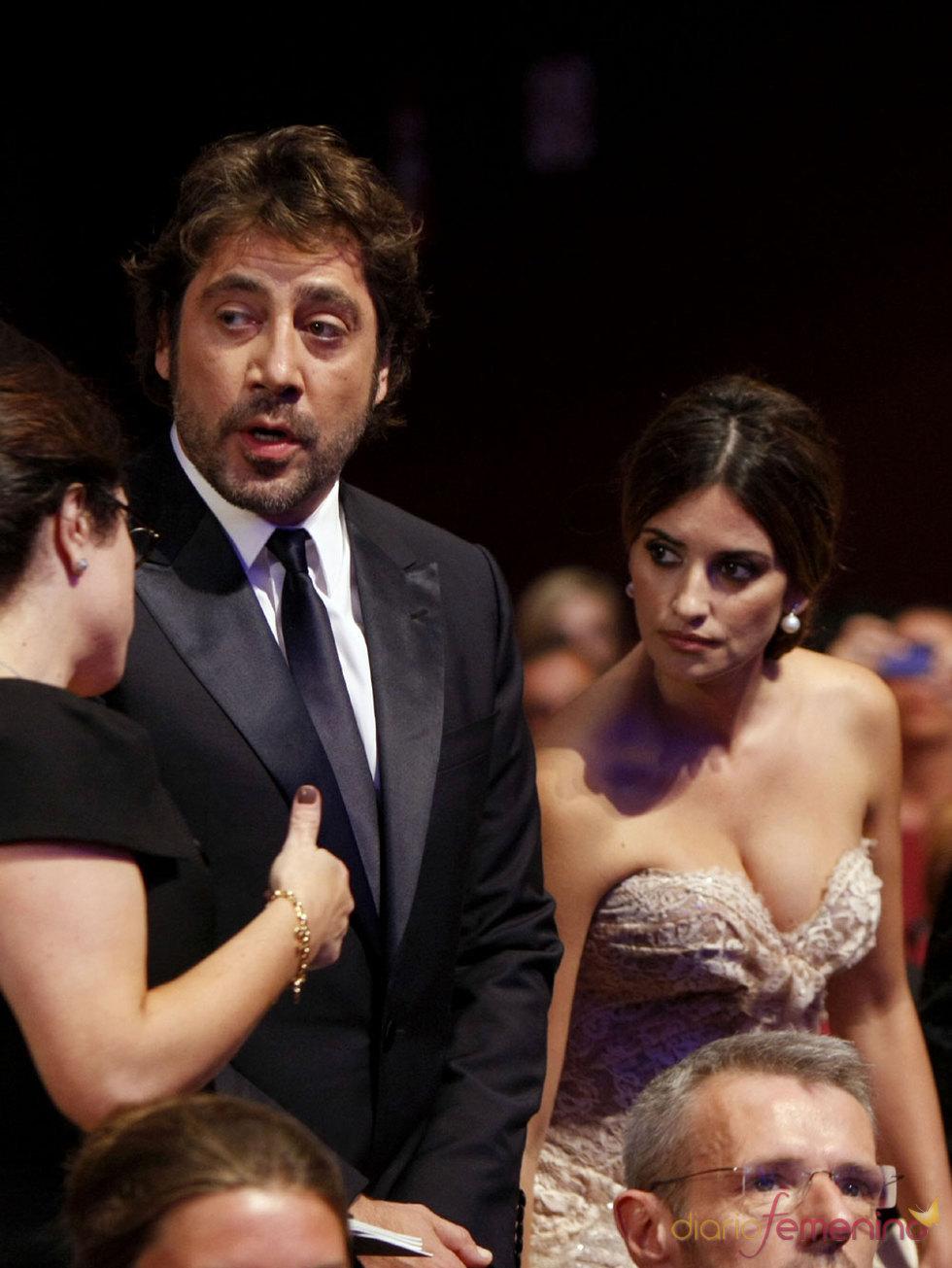 Javier Bardem y Penélope Cruz juntos en la entrega de la Palma de Oro de Cannes