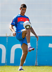 Cristiano Ronaldo entrena para el Mundial