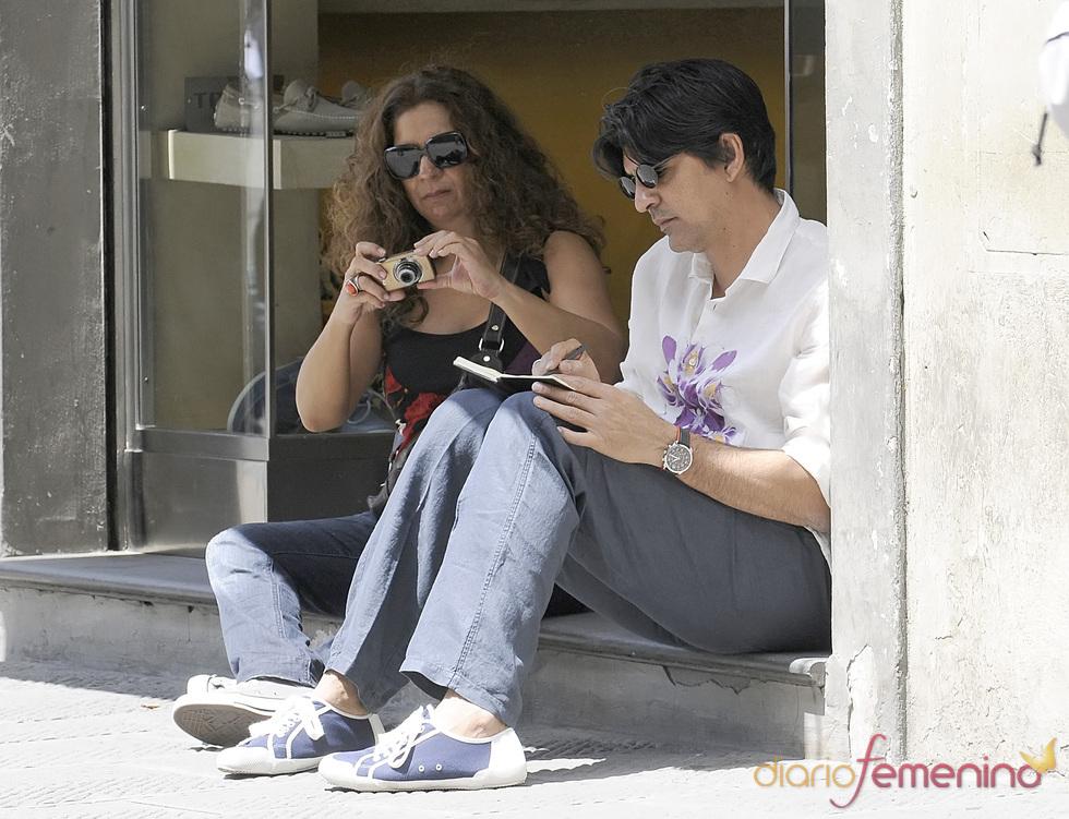 Lolita y Pablo Durán descansan en Florencia